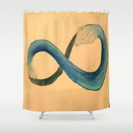 Infinite Wave Shower Curtain