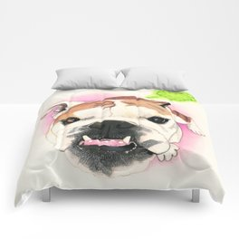 English Bulldog - F.I.P. - @LucyFarted Comforters