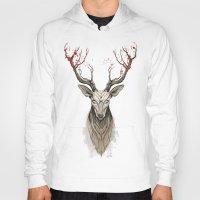 deer Hoodies featuring Deer tree by Rafapasta