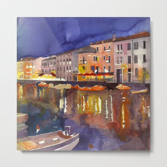 Night in Venice part 1 Metal Print