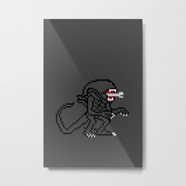 Alien Pixels Metal Print
