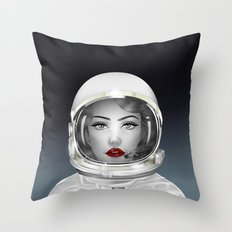 Space Lady Throw Pillow