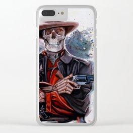 The Gunslinger - Dia De Los Muertos Clear iPhone Case
