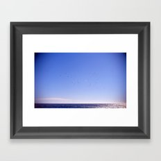 Birds Blue Sky Constellation Framed Art Print