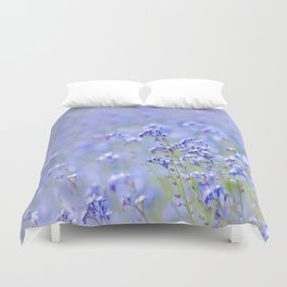 Light Blue Flowers Duvet Cover