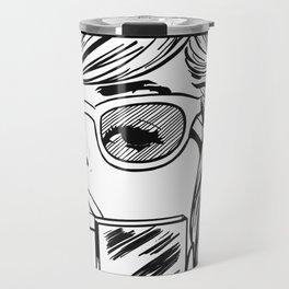 comic girl Travel Mug