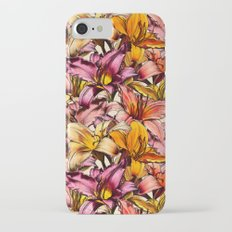 Daylily Drama - a floral illustration pattern Slim Case iPhone 7