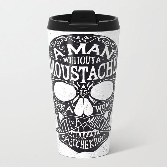 Skull Tchekhov Metal Travel Mug