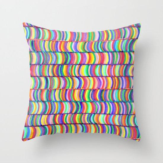 rainbows random Throw Pillow