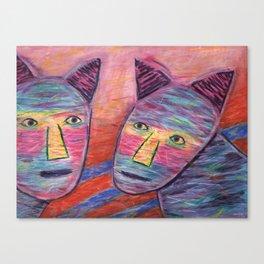 Cat Guys Canvas Print