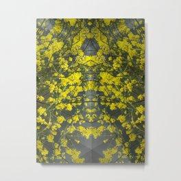 Mustard Rising Metal Print