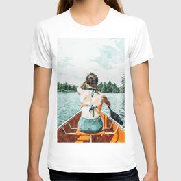 Row Your Own Boat #illustration #decor #painting T-shirt