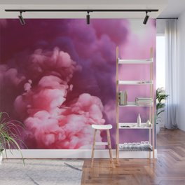 Pink Puff Cloud (Color) Wall Mural