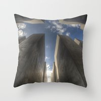 jewish Throw Pillows featuring Jewish memorial wide by Cozmic Photos