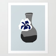 Vase with Pansy Art Print