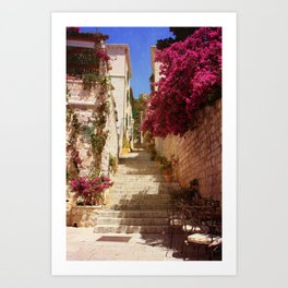 Hvar old town Art Print