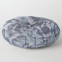 Abstract Composition 359 Floor Pillow