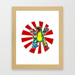It came from toykio Framed Art Print