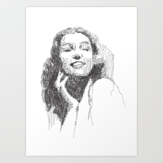 Rita Hayworth Portrait Art Print