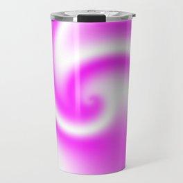 Raspberry Ribbon Candy Fractal Travel Mug