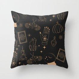 Mystical Halloween Throw Pillow
