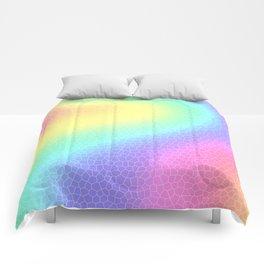 "Curvy Pastel Rainbow ""Glass Tiles"" Design Comforters"