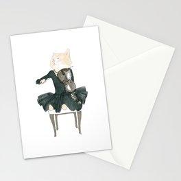1003 Viola Cat Stationery Cards