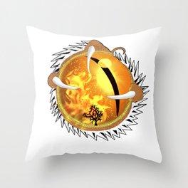 Copperhead Dragon's Eye Throw Pillow