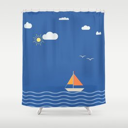 Open Sails Shower Curtain