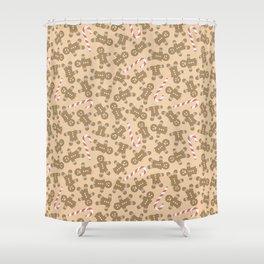 Gingerbread Man Pattern Shower Curtain