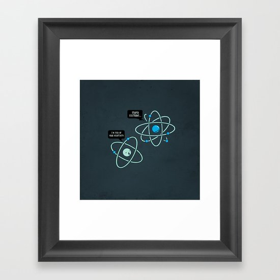 Negative Atom Framed Art Print