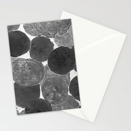 Abstract Gray Stationery Cards