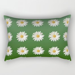 Daisies (green background) Rectangular Pillow