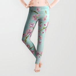 Spring Flowers - Cherry Blossom Pattern Leggings