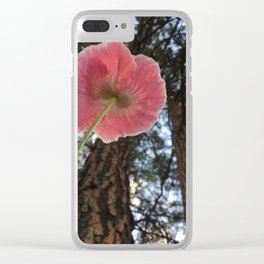 Poppy Perspective Clear iPhone Case