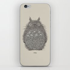 Cream Totoro iPhone Skin
