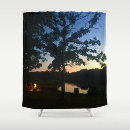 Lakeside Evening Shower Curtain