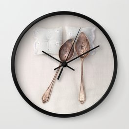 The Art of Spooning Wall Clock
