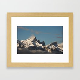 Late Day Mountains Framed Art Print