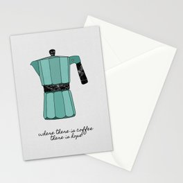 Where There is Coffee, There Is Hope Stationery Cards