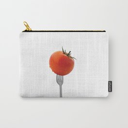 Fork with tomato - white Carry-All Pouch