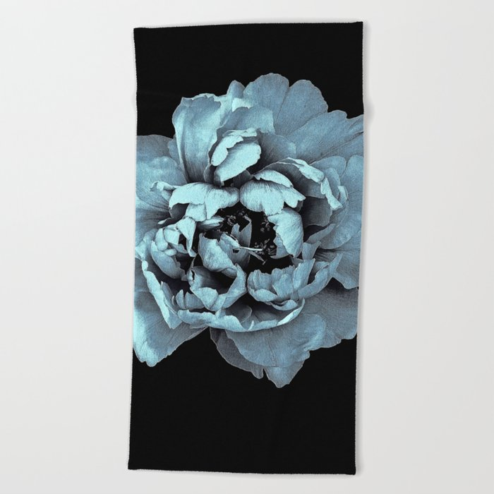 Blue Peony, Under The Floral Spell Beach Towel