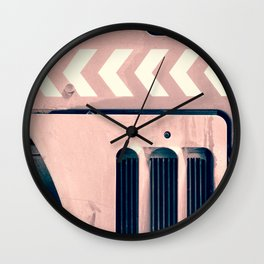 Road Roller Chevron - Industrial Abstract (everyday 17.01.2017) Wall Clock