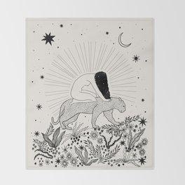 Riding Through The Magic Throw Blanket