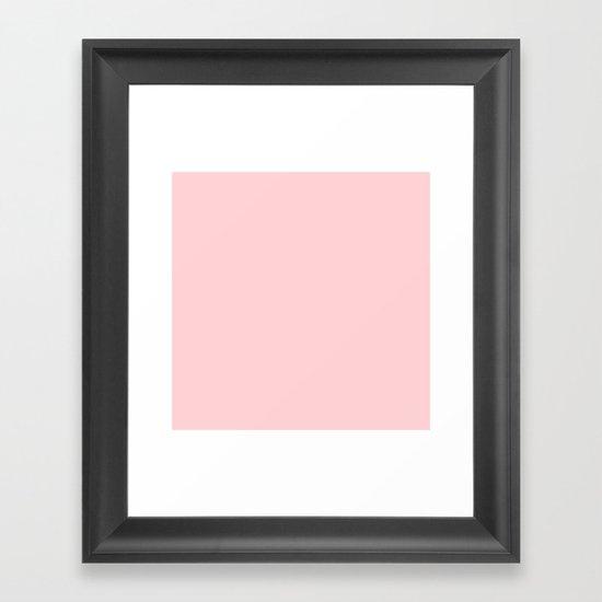 Blushing Red Framed Art Print