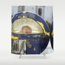 Weathered Parking Meters Shower Curtain