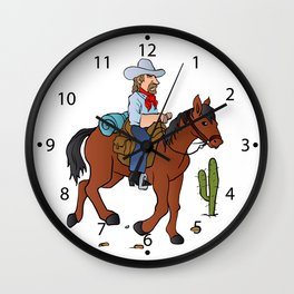 Cowboy on the horse Wall Clock
