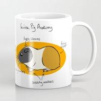guinea pig Mugs featuring Guinea Pig Anatomy by mausekonig
