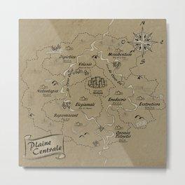 Mythos : Carte de la Plaine Centrale Metal Print