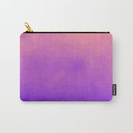 Pink and Purple Ombre - Swirly Carry-All Pouch